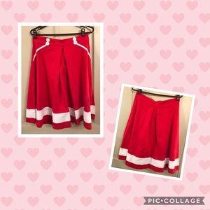Dresses & Skirts - Red retro sailor rockabilly a-line skirt Sisjuly